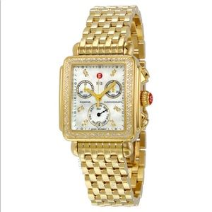 Michele Deco Mother of Pearl Diamond Dial Watch